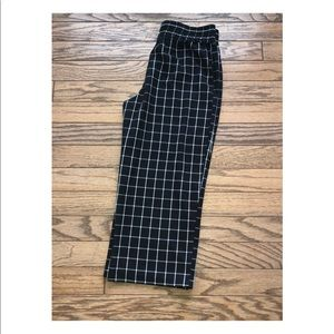 💙 2/$25 Top Shop plaid check wide leg pants 8